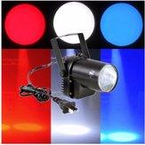 3W iluminação feixe branco LED holofotes PINSPOT dj discoteca efeito de palco bar xmas