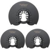 3 pcs 88mm Metade Flush Circular Saw Blades Ocsillating Multitool Acessórios Ferramentas Oscilantes