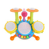 Musical Toy Set Roll Drum Musical Instruments Band Kits Kids Early Educational Toy Gift Baby Music Education Puzzle Toy