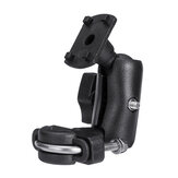 Handlebar Mounting Bracket With Rubber-Covered Clamp For Phone GPS Holder Bag Black