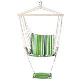 Cadeira de rede de algodão Confortável suspensão suspensa assento giratório Almofada de balanço Jardim interno externo Carga máxima 150 kg