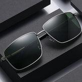 男性偏光ファッションUV保護メタルフレームサングラス