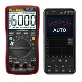 ANENG AN9002 Digital Bluetooth True RMS Multimeter 6000 Count Professional Auto Multimetro AC / DC Current Voltage Tester - Rouge