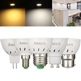 ARILUX® E27 E14 B22 GU10 MR16 3W 250LM SMD2835 60LEDs Spotlight Bulb Pure White Warm Wit AC220V