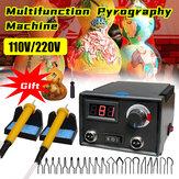 110V/220V Digital Multifunction Pyrography Machine Gourd Wood Pyrography Crafts