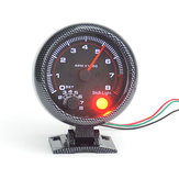 95mm 3.75 İnç Araba Takometre Tako Ölçer metre 0-8000 RPM Ile LED Shift Işık 12 V