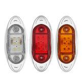 LED Car Side Marker Indicator Lights Chrome Base Lamp 12V 1PCS for Truck Trailer Lorry Van Bus