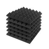 6Pcs Acoustic Foam Studio Soundproofing Foam Wedges Wall Tiles 12 x 12 x 2inch
