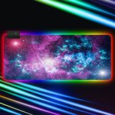 RGB Muismat Soft Rubber Antislip USB Powered Starry Sky LED Gloeiende Gaming Toetsenbord Pad Desktop Beschermende Mat voor Thuiskantoor