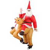 DecorazionedomesticadelpartitodiNatale Coda del gatto gonfiabile del cervo Giocattoli del costume del Babbo Natale che proponono per il regalo dei capretti