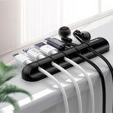 SAMZHE 2 шт. Силиконовый кабель Органайзер зажимы настольный намотчик кабеля 5 зажимов держатель кабеля гибкий кабель управления LX-04