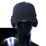Pure Cotton LED Cap Glow in Dark for Reading Fishing Jogging Ear Protection Light Up LED Sport Hat