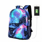 18L Luminous USB Anti-theft Backpack Wodoodporna torba podróżna na laptopa Camping Travel