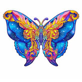 A3/A4/A5 Wooden Butterfly Puzzle Cartoon Unique Shape Pieces Animal Gift Mysterious Early Education Toys for Childrens Adults Kids