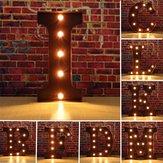 Weinlese Metall LED Licht DIY Buchstabe A bis M Anmeldung Karneval Wand Marquee Dekoration