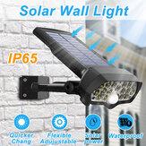 30W 16LED Solar Panel de luz de calle PIR Movimiento Sensor 360 ° Atenuación al aire libre Pared Lámpara para Garden Road Pathway