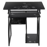 Bilgisayar Masası Masa Iş İstasyonu Masa Çiçek Desen Masa Çalışma Yazı Masası ile Sunucu Klavye Ofis Ev için Raf