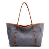 النساءقماشالباستيلالبسيطحملحقيبة يد الترفيه السفر الكتف حقيبة قدرة كبيرة ويكندر