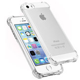 Air Bag Ultra Thin Průhledný Shockproof Soft TPU Case for iPhone 5 5S SE