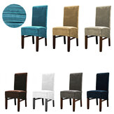 Stretch Velvet Dining Chair Cover Seat Removable Waterproof Slipcover For Dining Room Wedding Banquet Party Kitchen Home Chair Seat Covers