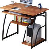 Computer Desk Laptop Desk simple Study desktop table home desk Simple Writing Desk Study Table Host Care 71cm Height For Bedroom Office Study With Shelves
