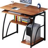 Escritorio para computadora Escritorio para computadora portátil Mesa de escritorio simple Mesa de escritorio para el hogar Mesa de escritorio simple Mesa de estudio Cuidado del anfitrión 71 cm Altura para dormitorio Estudio de oficina con estantes