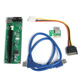 USB 3.0 PCI-E 1X to 16X Graphics Card Extension Cable SATA 15Pin to 4Pin Power Cable