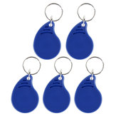 5Pcs RFID IC Keyfobs 13.56 MHz Keychains NFC Key Card ISO14443A MF Classi For Smart Access Control System