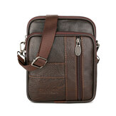 1.5L Men Genuine Leather Shoulder Bag Crossbody Messenger Handbag Phone Case Pouch Outdoor Travel