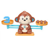Montessori Monkey Math Match Game Balancing Board Scale Number Balance Game Educational Toys for Children