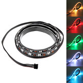 Coolmoon 40cm Magnetic RGB LED Strip Light dengan 30pcs LED untuk Desktop PC Case Komputer