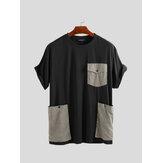 Grote zakken, stiksels, relaxte T-shirts met korte mouwen