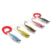 ZANLURE 5pcs Jigging Lead Soft Fishing Lures Minnow Bait Tackle Mixed Colors Single Hook