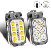 Luz de trabajo COB recargable por USB XANES® LED Linterna ajustable Impermeable cámping Linterna Imán Diseño con alimentación Pantalla