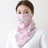 Lenço de proteção solar para o pescoço de impressão Máscara Equitação ao ar livre de secagem rápida respirável Máscara