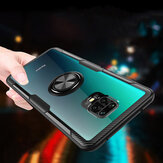 Bakeey for Xiaomi Redmi Note 9S / Redmi Note 9 Pro / Redmi Note 9 Pro Max Case Carbon Fiber Pattern 360° Rotation Adjustable Magnetic Ring Holder Shockproof Transparent Protective Case Non-original