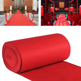 10m / 15m VIP rojo Carpet Runner Party Decoration Boda Pasillo Floor Available Desechable Entrance Scene Alfombra