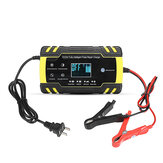 Enusic ™ US Plug 12 / 24V 8A / 4A Touch Screen Pulse Repair LCD Battery Charger For Car Motorcycle Lead Acid Battery Agm Gel Wet