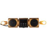12V bluetooth Moto MP3 Altavoz estéreo Reproductor de audio USB AUX Radio Impermeable