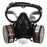 Respirador de gas Mascara Filtro químico antipolvo de seguridad militar Conjunto de gafas de protección laboral Safety