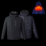 Uleemark IP64 Men Winter Rechargeable Adjustable Electric Heated Jacket Coats Washable Waterproof Rainproof Soft Down Jacket