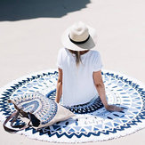 150cm European Style Thin Polyester Fiber Beach Yoga Towel Round Bed Sheet Tapestry Tablecloth