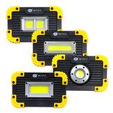 Luz de trabalho COB 50W Carregamento USB 3 modos Luz de acampamento Holofote Lâmpada de emergência para viagens ao ar livre