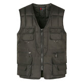 Gilet multitasche uomo casual loose fit V Collo