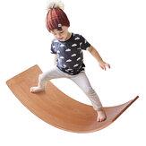 35 Inch Kid Size Wooden Wobble Balance Board Waldorf Toys Balance Board Kid Yoga Board Curvy Board Wooden Rocker Board
