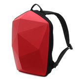 KINGSLONG Men Polygon Travel Bolsa Mochila Casual Sólida