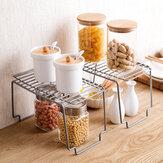 Kitchen Storage Rack Metal Cupboard Storage Shelf Non-Skid Spice Rack