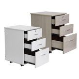 3-Drawer Rolling Storage Cabinet Office Supply Printer Cart Nightstand With Lock