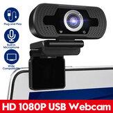 1080P HD Cámara web USB Web Cámara con reducción de ruido incorporada Micrófono para PC