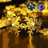 Śniegowe lampki choinkowe Śnieżna wróżka Girlanda Dekoracyjna dioda LED energii słonecznej na choinkę Dekoracja pokoju noworocznego